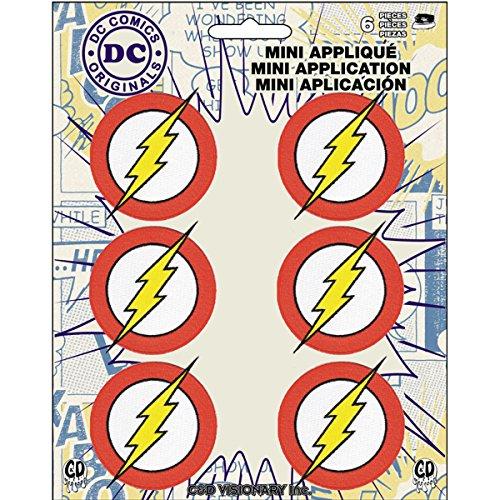 Application DC Comics Originals Flash 6 Pat Ch Set Novelty, 2'
