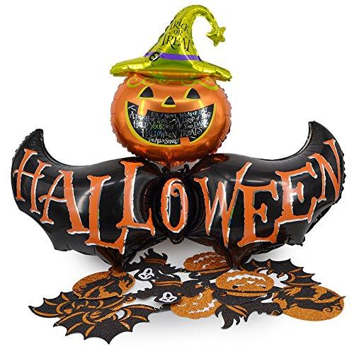 Okaytec kit Decorazioni per Halloween - Palloncini per Halloween & Ghirlanda Halloween - Decorazioni Casa Halloween