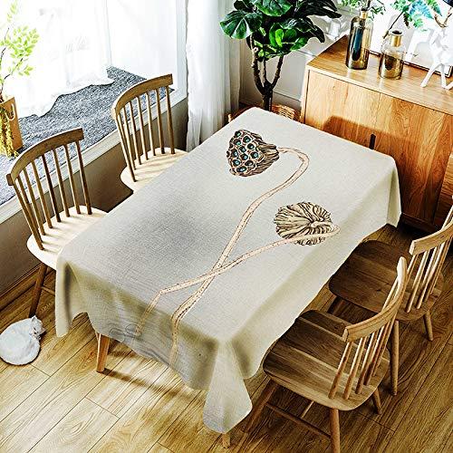 YUEMI Mantel Poliéster Impresión Digital Mantel Rectangular Antifouling Mantel Multifuncional Reutilizable Apto para Interior Y Exterior 150x260cm