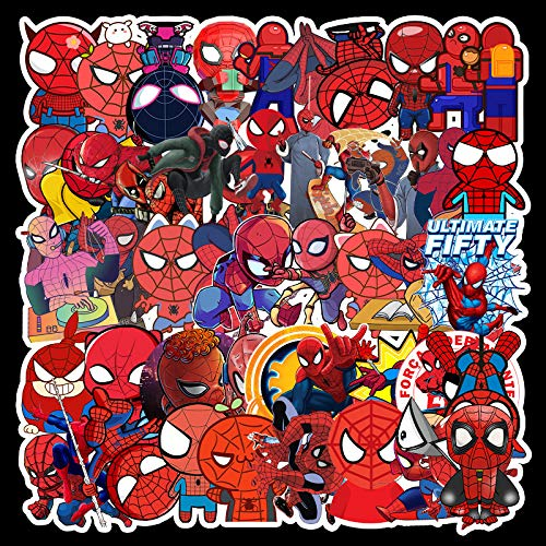 WOKAO Dibujos Animados Spider-Man Graffiti Pegatinas Equipaje refrigerador Impermeable Pegatinas del Coche 57pcs