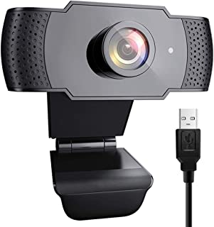 1080P HD Webcam with Microphone, USB PC Computer Webcam for Laptop Desktop Full HD Camera Video Webcam 110 Degree Widescreen, Streaming Webcam for Recording,Video Conferencing,YouTube,Calling,Gaming