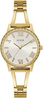 Guess lucy Womens Analog Quartz Watch with Stainless Steel Gold Plated bracelet W1208L2