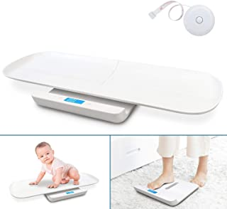 Leogreen USB Charging Baby Weight Scale with Removable Height Tray, 2 IN 1 Multi-Function Digital Pet Scale, Electronic Sc...