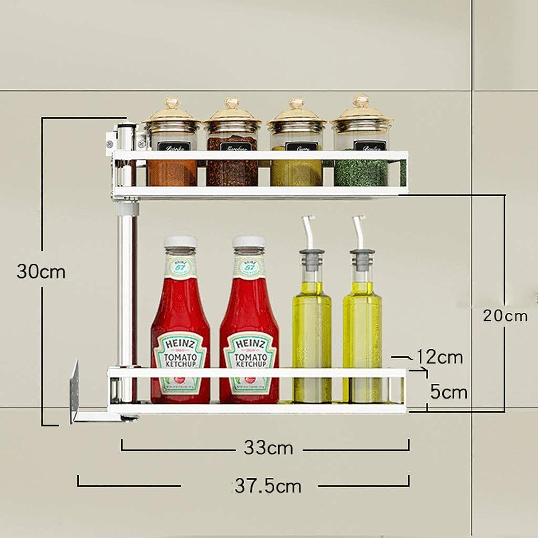 CCF Stainless Steel Punch Kitchen Corner Shelf Wall-Mounted redatable Seasoning Shelf Wall Storage Supplies CCFSF (Size   30  37.5CM)