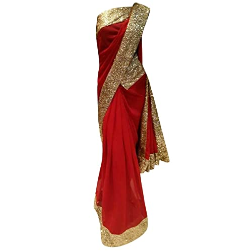 Red Bollywood Dress: Amazon com