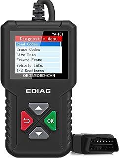 EDIAG OBD2 Scanner YA-101 Car Code Reader for Check Engine Light,O2 Sensor and EVAP Test, On-Board Monitor Test Mode 6,Smog Check,OBD2 Diagnostic Scan Tool for OBD2 Protocol Vehicles Since 1996