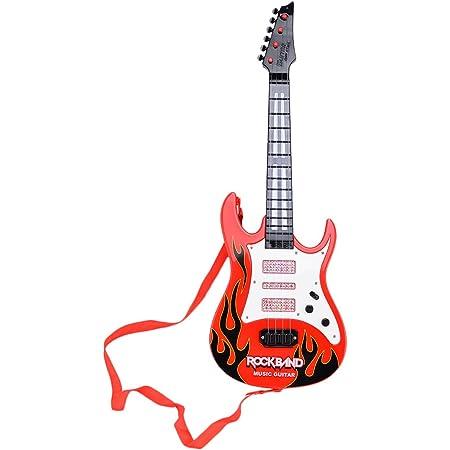 Leic Rock Band guitare électrique jouet 4 cordes Instruments de Simsulation jouant de la guitare électrique jouet éducatif musical cadeau pour enfants enfants