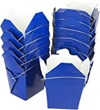 Homeford Take Out Boxes with Wire Handle, 12-Piece (Large, Royal Blue)