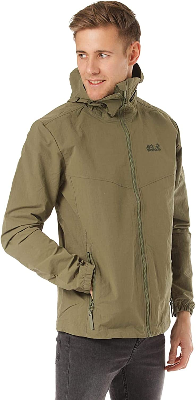 Jack Wolfskin Men's Lakeside Jacket Men's MosquitoProof Jacket 100% PFC Free, Woodland Green, XLarge