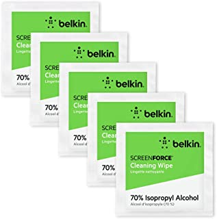 Belkin Screen Cleaning Wipes 200-Count (70% ISP Alcohol Wipes Reduce Bacteria up to 99%) for Smartphones, Tablets, Keyboar...
