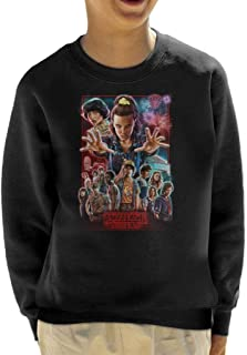 Cloud City 7 Stranger Things Poster Illustration Kid's Sweatshirt