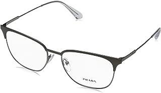 0PR 59UV Monturas de gafas, Brushed Brown/Gunmetal, 55 para Hombre