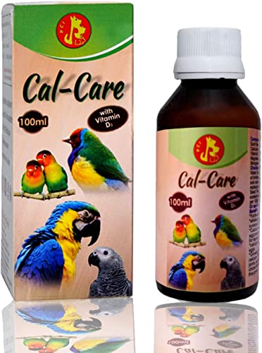 Pet Care International Cal-Care to Provide Essential Calcium for Healthy Bird Healthcare (100 ml)