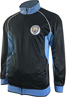 Manchester City Track Jacket Youth Boys Zip Front Soccer Football Official Merchandise