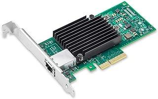 10Gネットワークカード Intel X550-T1 X550AT 純正ボード(チップ)実装,シングルRJ45 ポート,10Gbase-T LANカード,PCI-E3.0 X4/X8/X16, PCサーバ用