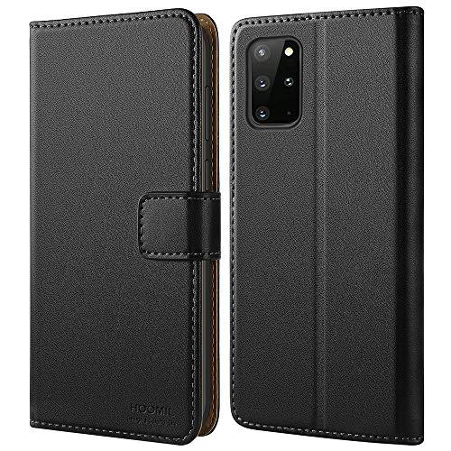 HOOMIL Handyhülle für Samsung Galaxy S20 Plus Hülle, Premium Leder Flip Hülle Cover Schutzhülle für Samsung Galaxy S20+   S20+ 5G Smartphone Tasche, Schwarz