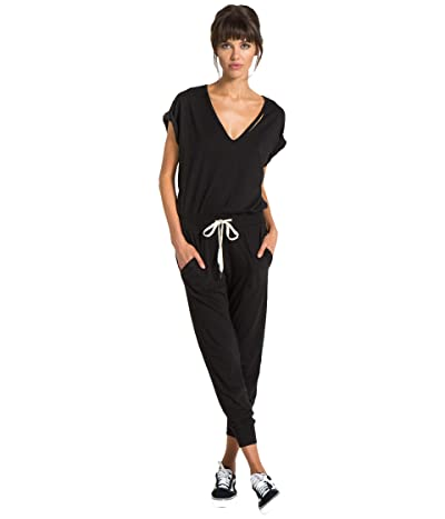 n:philanthropy Space Short Sleeve Tri-Blend Jumpsuit (Black Cat) Women