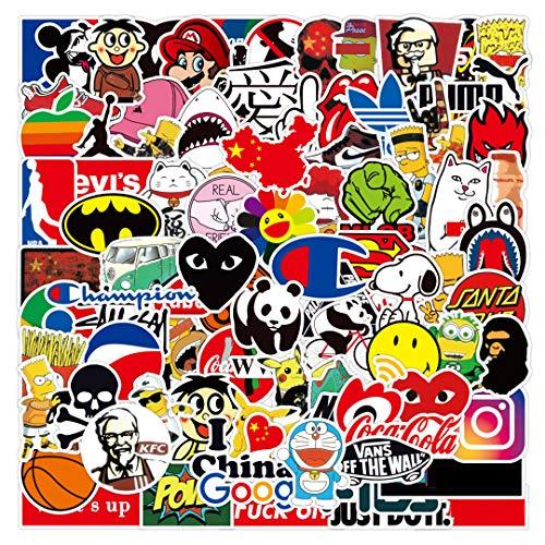 Tinyuet Set di Adesivi in 50 Sticker, Decalcomania per Ragazzi in Vinile Impermeabile per Cellulare Laptop Bottiglia d'Acqua Valigia-Street Fashion