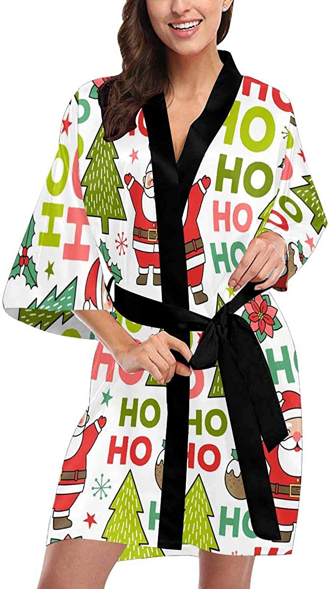 Custom Cute Santa Claus Women Kimono At the price of surprise Pa Denver Mall Beach Robes for Up Cover