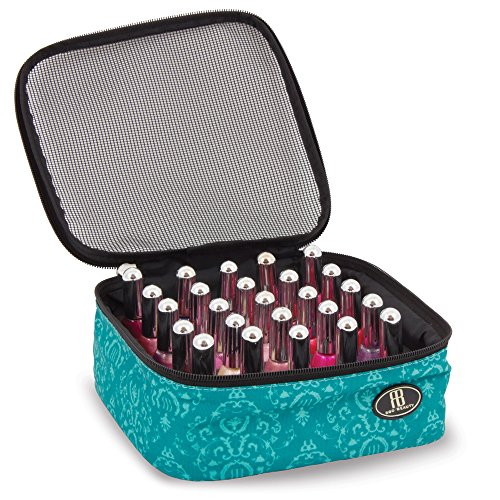 Roo Beauty Nail Polish Varnish Case, Manicure Storage Bag, Makeup Cosmetic Holder in Imperial Teal by Roo Beauty