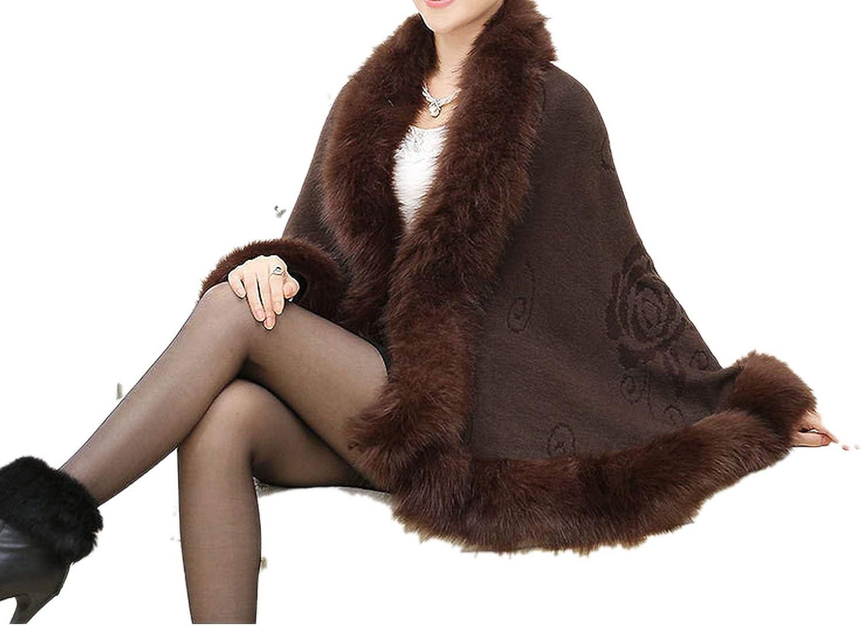 Cloud To Rain Coat Leather Grass Fox Fur Collar Wool Fur Coat,Coffee,One Size