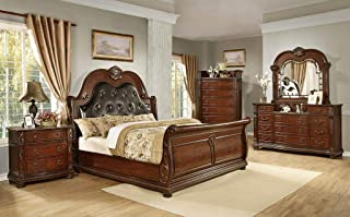 GTU Furniture Traditional Style Palace 5Pc Queen Bedroom Set(Q/D/M/N/C)