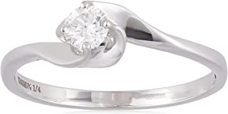 Pure Gold Jewellers Women Diamond Solitaire Ring - 1.75 gm