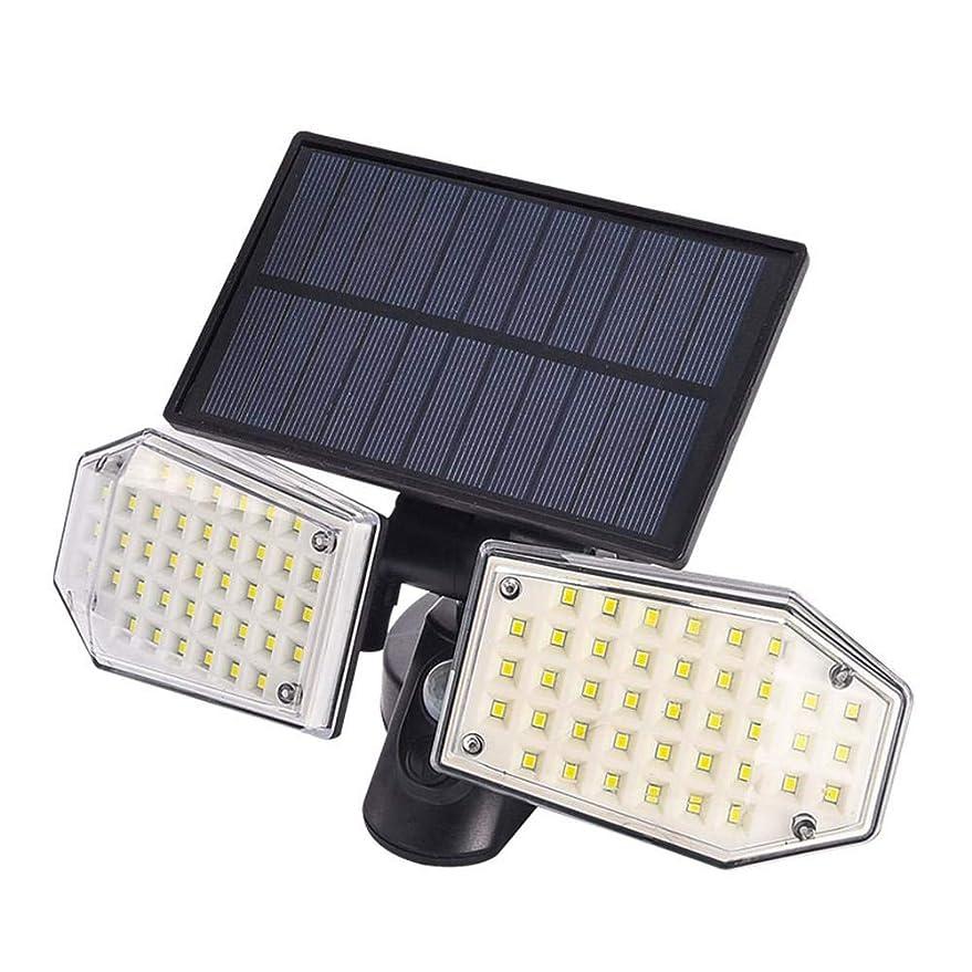輪郭わかる一貫性のないライト ソーラーパワー モーション センサー ダブルヘッド 調節可能 防水 スポットライト 屋外 通り 中庭