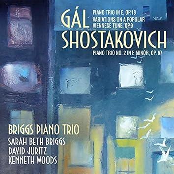 Gál, Shostakovich Piano Trios