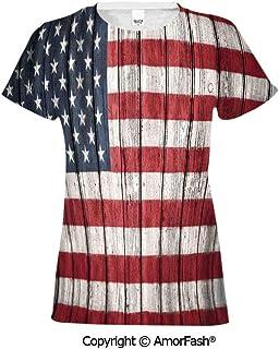 PUTIEN Waterfall All Over Print T-Shirt,95/% Polyester,Childrens Short Sleeve T-ShirtMo
