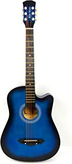 38 inch MIKE musci Acoustic Guitar with Bag and Strap(blue)