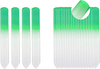 SIUSIO 20PK 3.5 inch Professional Czech Short Crystal Glass Baby Nail Files Buffer Mini Manicure Kit Set Gradient Rainbow Color for Nail Polishing - The Best Emory Boards for Fingernail & Toenail Care