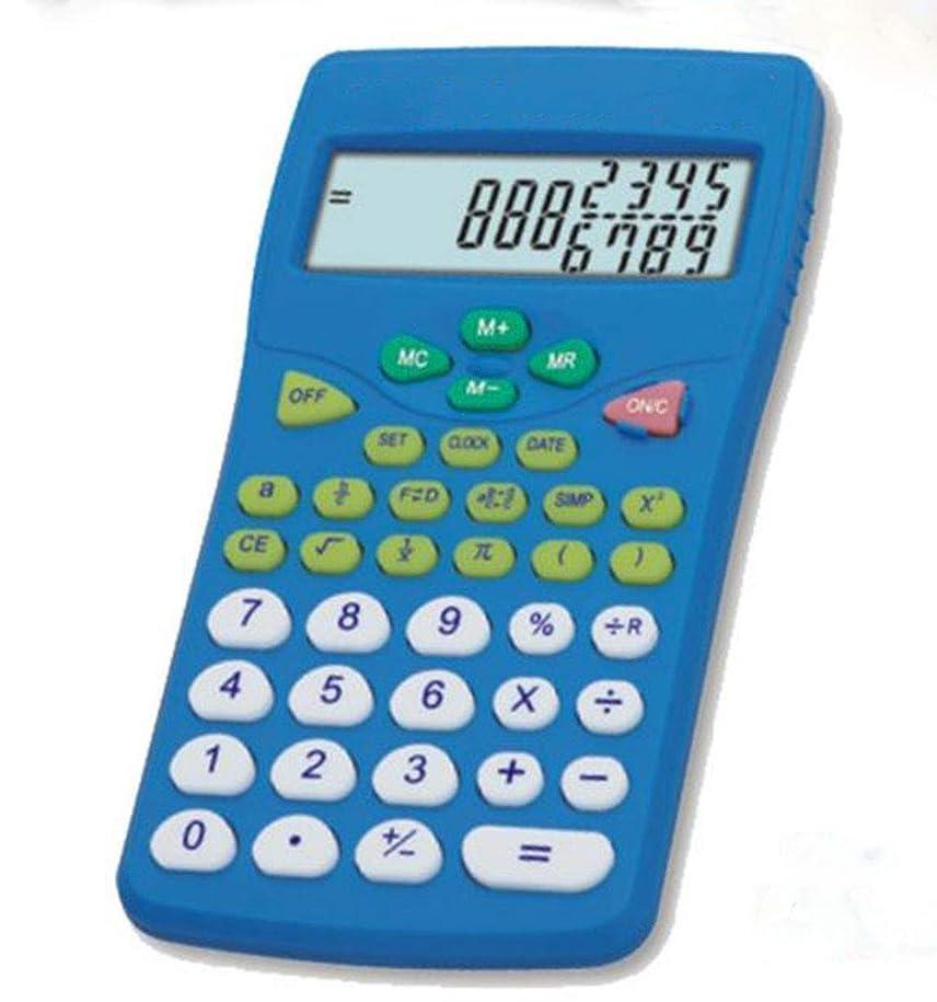 苦グループ震える電卓 学生サイエンス計算機 12ビット 大画面ディスプレイ 学生の計算用 ダブルラインディスプレイ マルチステップ複製