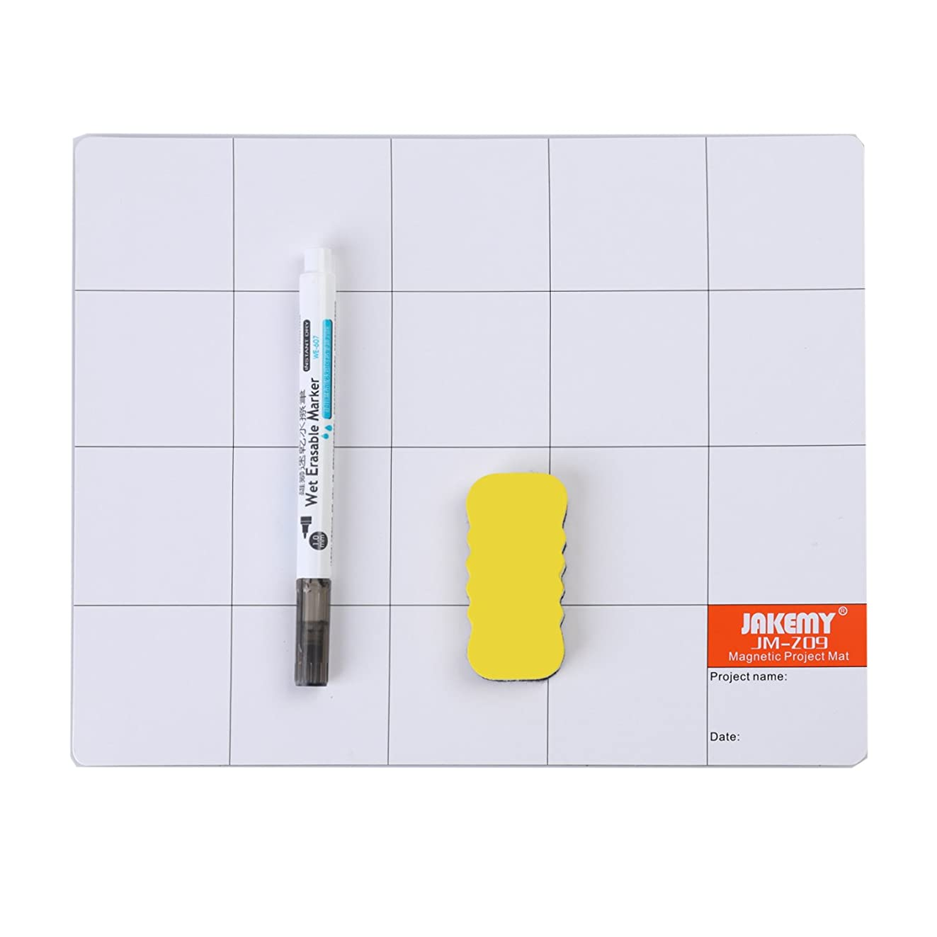 Magnetic Screw Mat Prevent Small Screws Losing, Magnetic Project Mat Rewritable Work Mat (9.8 x 7.9 inches)