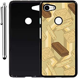 Custom Case Compatible with Google Pixel 3 XL (Bourbon Biscuits) Plastic Black Cover Ultra Slim | Lightweight | Includes Stylus Pen by Innosub