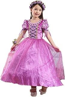 DreamHigh Girls Halloween Princess Rapunzel Costume Dress 3-10 Years