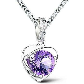 AIUIN Collana da Donna alla moda collana Amethyst anhaengerit cristalli Idea Regalo per Ragazza Donna Gioielli, con una borsa di gioielli