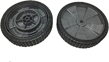 product image for Brinly Set of 2 Hardy Tow Behind Pull Leaf & Lawn Sweeper Drive Wheel 1008987