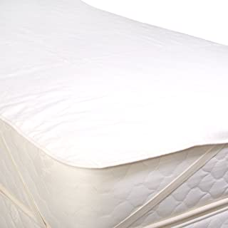 LIFEKIND Organic Flannel Mattress Pad with Straps - Size: Twin Extra Long