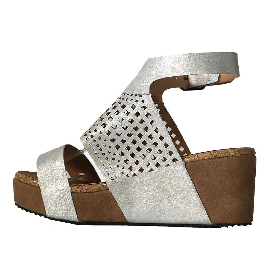 LOVOZO Women's Ladies Fashion Open Toe Platform Wedges Hollow Out Sandals Roman Shoes