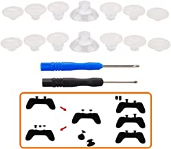 MXRC Professional Replacement Repair Kit Swap Thumb Analog Sticks for PS4 Controller & Xbox One Controller, Clear