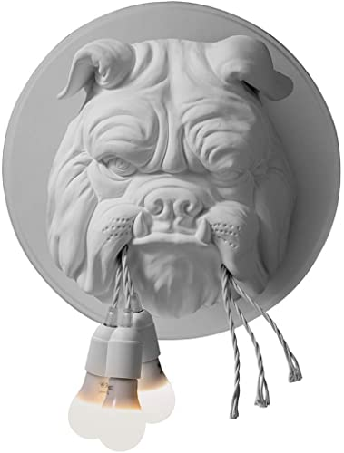 Karman amsterdam lampada da parete bulldog in ceramica bianco opaco AP191BA INT