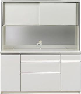 パモウナ 食器棚KL パールホワイト 幅160×高さ187×奥行50 日本製 KLA-1600R