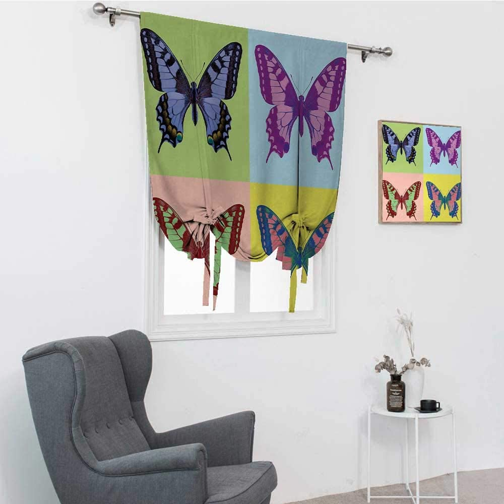 GugeABC Butterfly Blinds for Windows Oklahoma City Mall Pop Online limited product Swallowtail Art Pavili
