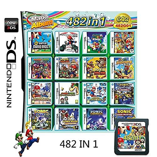 482 in 1 Game CartridgeNintendo DS Games CardCompatible with Super ComboNDSLNDSiNDSi LL/XL3DS3DSLL/XLNew 3DSNew 3DS LL/XL2DSNew 2DS LL/XL