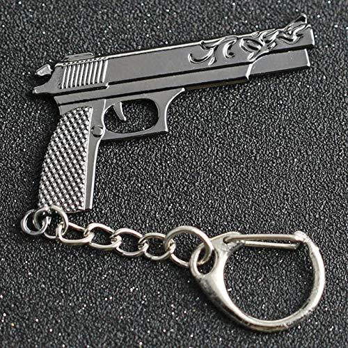 Wonderful Day CS GO CSGO CF Llavero AK 47 Rifle Gun Counter Strike Crossfire AK 47 AK-47 Llavero Llavero Anillo PUBG Jewelry, Desert Eagle