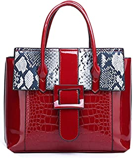 Patent Leather Handbags Bags for Women 2019 Famous Brands Serpentine Portable Bags Female Daily Work Messenger Shoulder Bag
