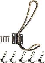 FUXXER® - Klassieke garderobehaken, kledinghaken, hoedenhaken, ijzeren haken, metalen haken, antiek brons messing design, ...