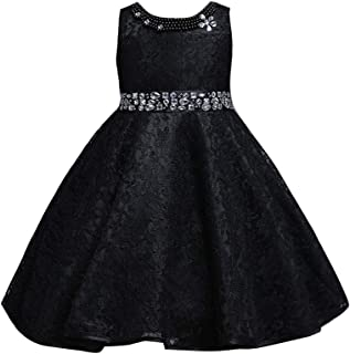 Kid Girl Lace Bowknot Floral Bridesmaid Wedding Birthday Communion Party Prom Princess Dress