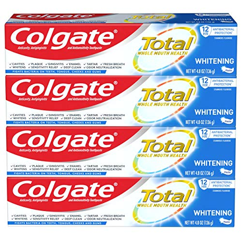 Colgate Total Whitening Toothpaste 4-Pack Now $8.30 (Was $16.98)